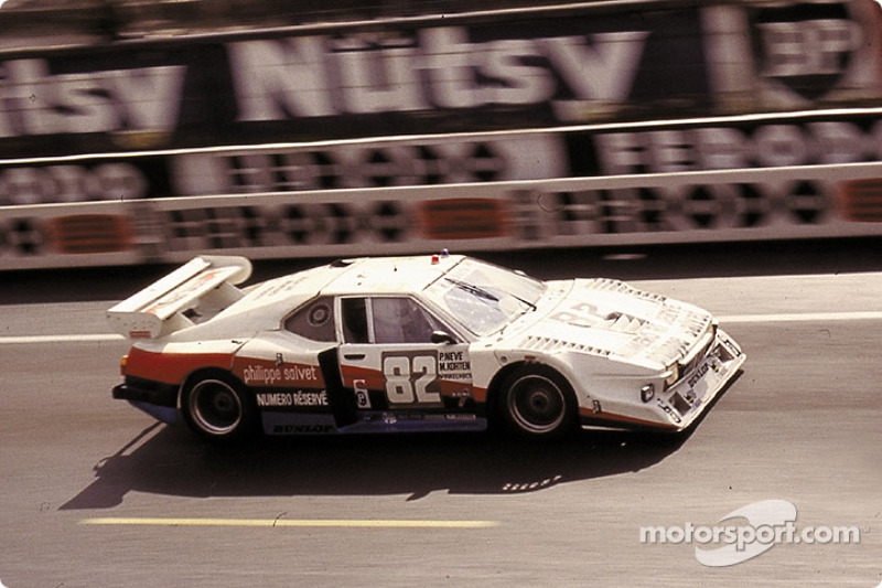 La BMW M1 n°82 March Racing : Manfred Winkelhock, Patrick Neve, Michael Korten