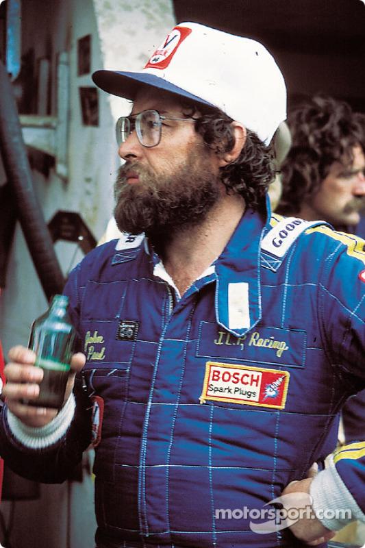 John Paul enjoys a beer after the race