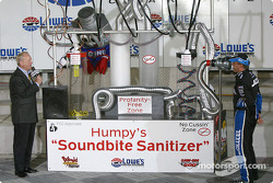 Ryan Newman talks in the FCC-approved 'Humpy's soundbite sanitizer'