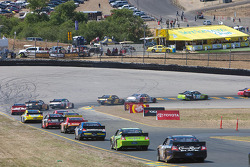 Race action to Turn 4A