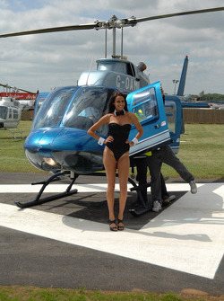 LCR Honda MotoGP Team Playboy girl takes an helicopter ride
