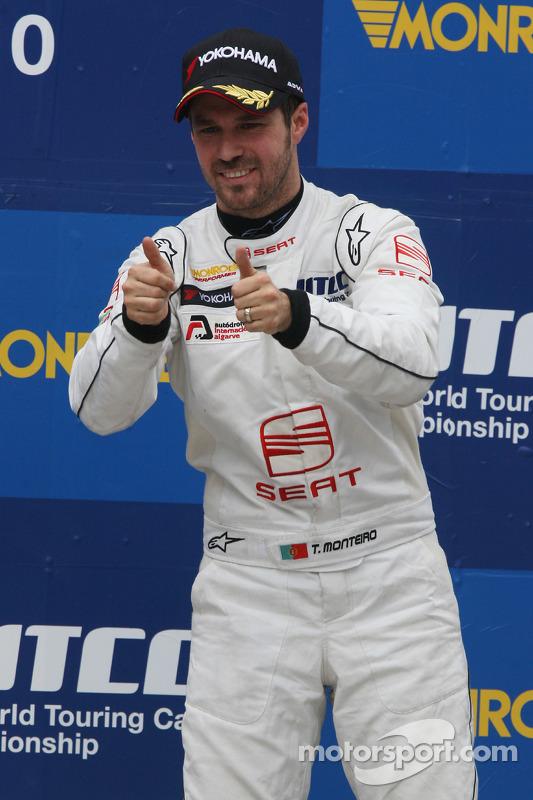 Podium, Tiago Monteiro, SR - Sport, Seat Leon 2.0 TDI