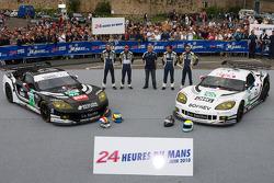 #73 Luc Alphand Aventures Corvette C6.R: Julien Jousse, Xavier Maassen, Patrice Goueslard, #72 Luc Alphand Aventures Corvette C6.R: Stephan Gregoire, Jérôme Policand, David Hart