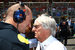 Adrian Newey, Red Bull Racing, Technical Operations Director and Bernie Ecclestone