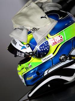 The helmet of Augusto Farfus, BMW Team RBM, BMW 320si