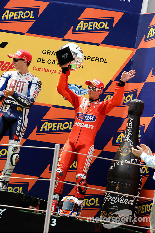 Podium : troisième Casey Stoner, Ducati Marlboro Team