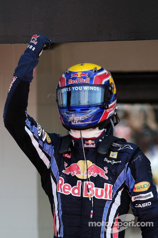 Vainqueur Mark Webber, Red Bull Racing