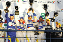 LMP1 podium: class and overall winners Oliver Panis, Nicolas Lapierre and Stéphane Sarrazin with Hugues de Chaunac