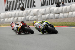 Andrea Dovizioso, Repsol Honda Team en Valentino Rossi, Fiat Yamaha Team