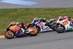 Andrea Dovizioso, Repsol Honda Team, Valentino Rossi, Fiat Yamaha Team, Marco Simoncelli, San Carlo Honda Gresini