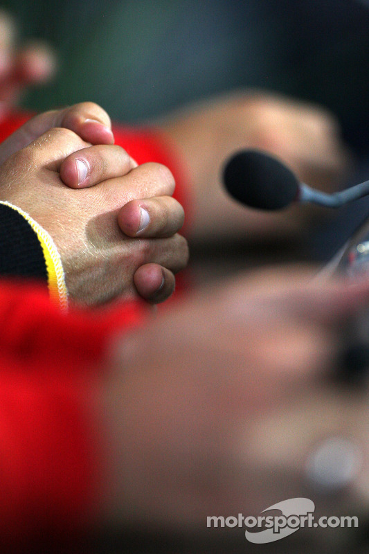 The hands of Sebastian Vettel, Red Bull Racing