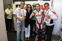 Роджер Ли Хейден, LCR Honda MotoGP празднует финиш в очковой зоне