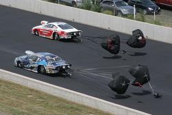 Allen Johnson, Team Mopar/J&J Racing Dodge Avenger and Mike Edwards, Penhall/Interstate Batteries Pontiac GXP
