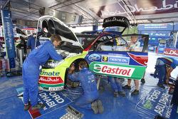 BP Ford Abu Dhabi World Rally Team service area