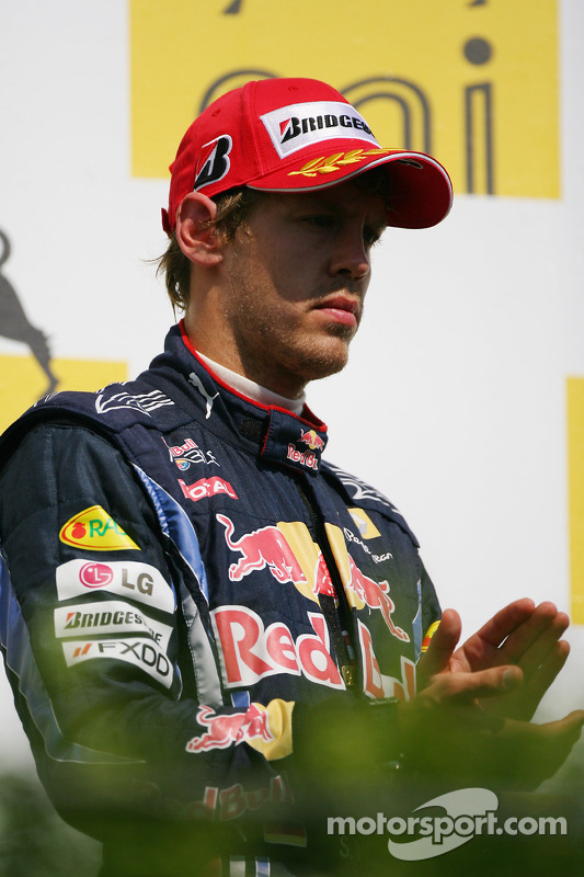 Podium: 3de Sebastian Vettel, Red Bull Racing