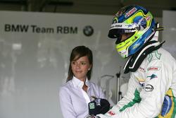 Augusto Farfus BMW Team RBM BMW 320si with his wife Elirane