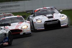 #7 Young Driver AMR Aston Martin DB9: Darren Turner, Tomas Enge, #23 Sumo Power GT Nissan GT-R: Michael Krumm, Peter Dumbreck