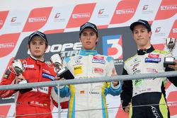 Invitation podium: winner Daniel Juncadella, second place Carlos Munoz, third place Alexander Sims