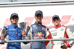 Podium: winner Jean-Eric Vergne, second place Felipe Nasr, third place Daniel McKenzie