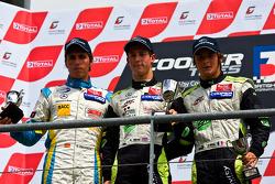 Invitation class podium from left: Daniel Juncadella, Alexander Simms and Jim Pla