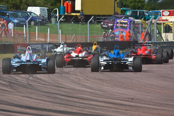 F3 Cars in a busy start