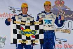 DP podium: class and overall winners Memo Rojas and Scott Pruett celeberate