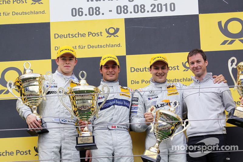 Podium: winnaar Bruno Spengler, Team HWA AMG Mercedes C-Klasse, 2de Paul di Resta, Team HWA AMG Merc