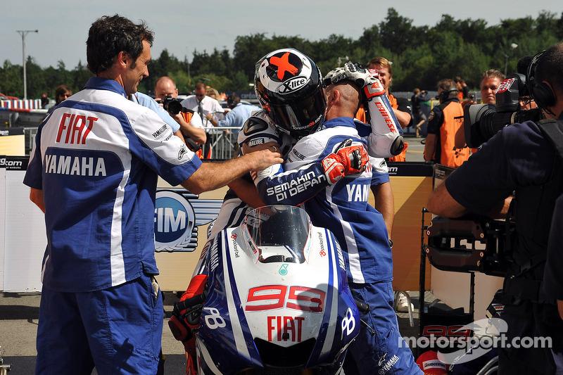 Race winnaar Jorge Lorenzo, Fiat Yamaha Team