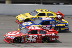 Juan Pablo Montoya, Earnhardt Ganassi Racing Chevrolet, Martin Truex Jr., Michael Waltrip Racing Toyota, Clint Bowyer, Richard Childress Racing Chevrolet
