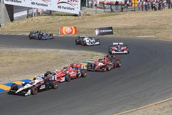 Ryan Briscoe, Team Penske, Scott Dixon, Target Chip Ganassi Racing, Justin Wilson, Dreyer & Reinbold Racing
