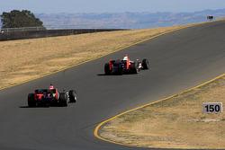 Helio Castroneves, Team Penske, Justin Wilson, Dreyer & Reinbold Racing