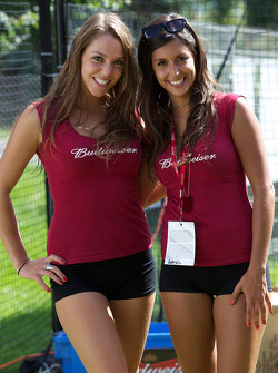 Two charming Budweiser girls