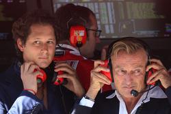 John Elkann,  President of the Fiat Group and nephew Of Gianni Agnelli  and Luca di Montezemolo, Scuderia Ferrari, FIAT Chairman and President of Ferrari