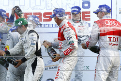 LMP podium: champagne for everyone