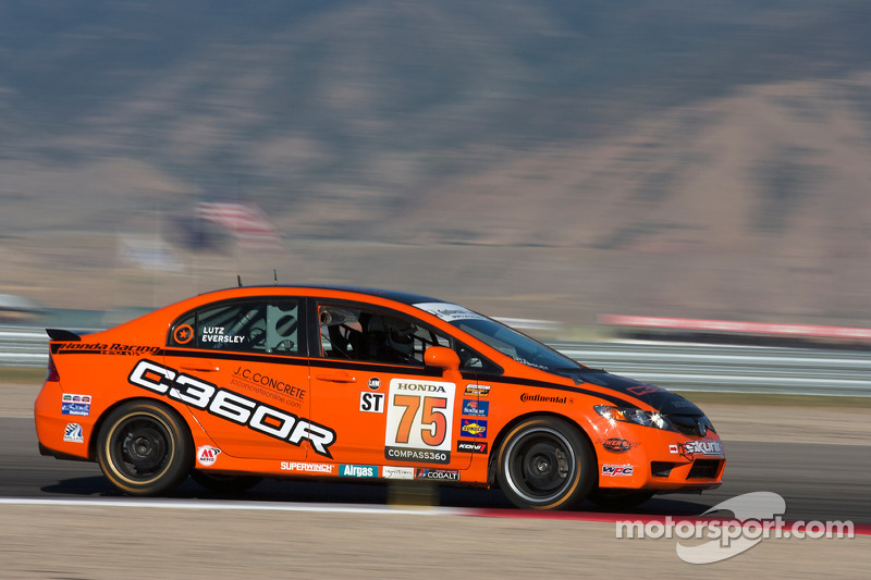 #75 Compass360 Racing Honda Civic SI: Ryan Eversley, Zach Lutz