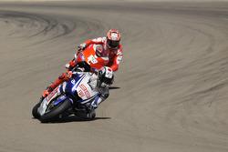 Jorge Lorenzo, Fiat Yamaha Team; Nicky Hayden, Ducati Marlboro Team
