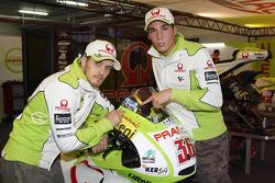 Mika Kallio, Pramac Racing Team and Aleix Espargaro, Pramac Racing Team