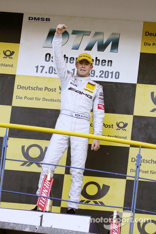 Podium: race winnaar Paul di Resta, Team HWA AMG Mercedes