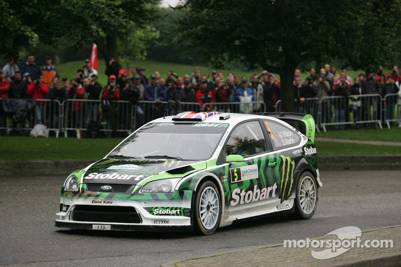 Matthew Wilson e Scott Martin, Ford Focus RS WRC 08, Stobart VK M-Sport Ford Rally Team