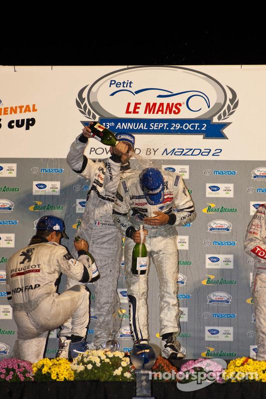 LMP1 podium: champagnefestiviteiten