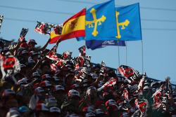 Fans klaar voor de race