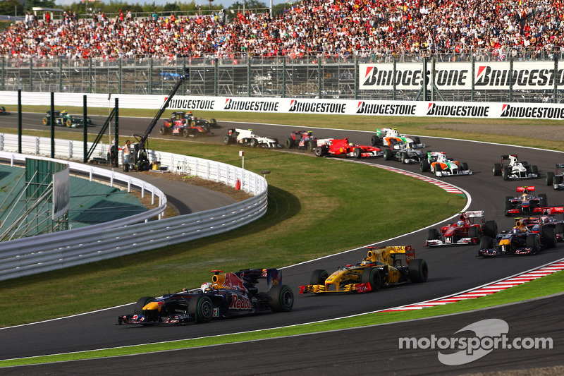 Sebastian Vettel, Red Bull Racing prend la tête de la course