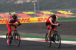 Fernando Alonso, Scuderia Ferrari riding on his bike