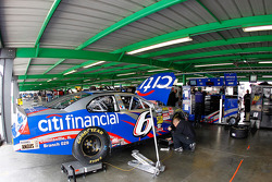 The Citi financial Ford of Ricky Stenhouse Jr. sits in the garage