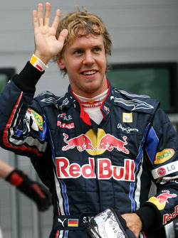 Pole winner Sebastian Vettel, Red Bull Racing