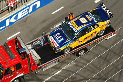 #6 Ford Performance Racing car of Steve Richards and Will Power out of the race after crashing one the opening lap