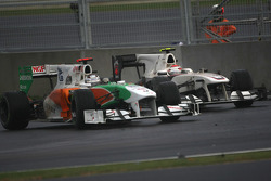 Kamui Kobayashi, BMW Sauber F1 Team and Adrian Sutil, Force India F1 Team
