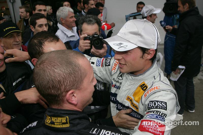 Derde plaats Bruno Spengler, Team HWA AMG Mercedes C-Klasse
