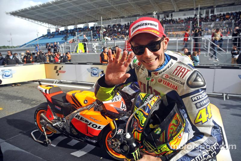 Deuxième place: Valentino Rossi, Fiat Yamaha Team