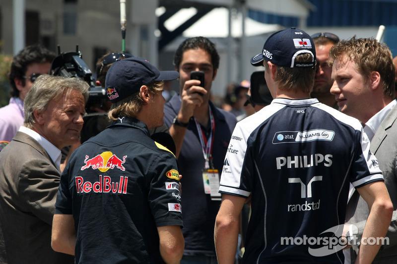 Sebastian Vettel, Red Bull Racing en Nico Hulkenberg, Williams F1 Team